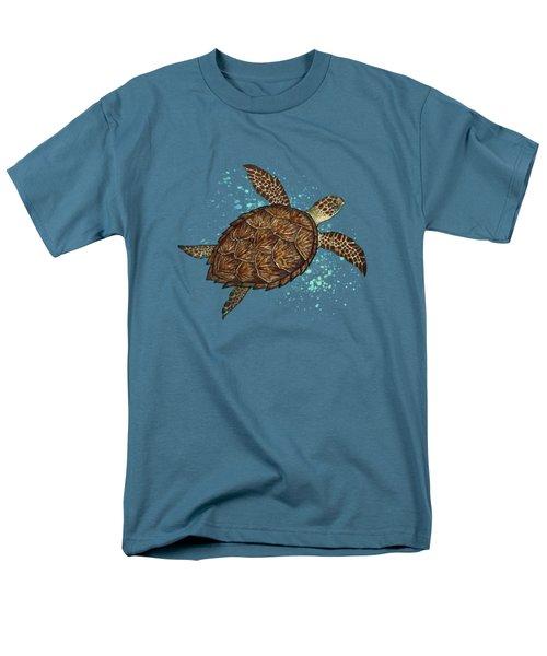 Hawksbill Sea Turtle Men's T-Shirt  (Regular Fit) by Amber Marine