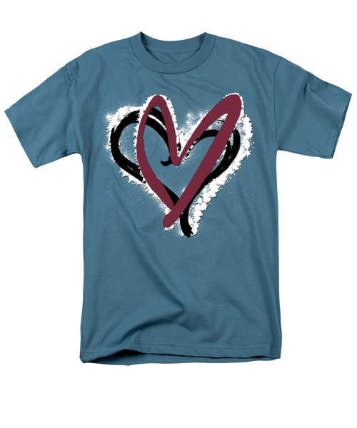 Hearts Graphic 6 Men's T-Shirt  (Regular Fit) by Melissa Smith