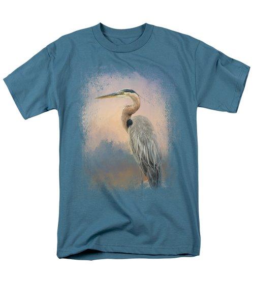 Heron On The Rocks Men's T-Shirt  (Regular Fit) by Jai Johnson