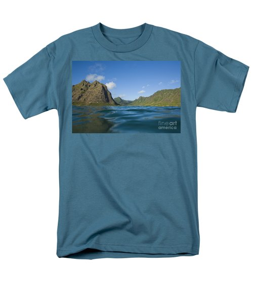 Kaaawa Valley from Ocean T-Shirt by Dana Edmunds - Printscapes