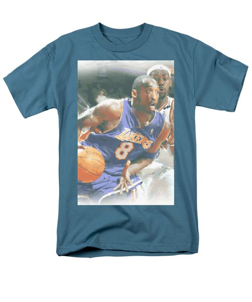 Kobe Bryant Lebron James Men's T-Shirt  (Regular Fit) by Joe Hamilton