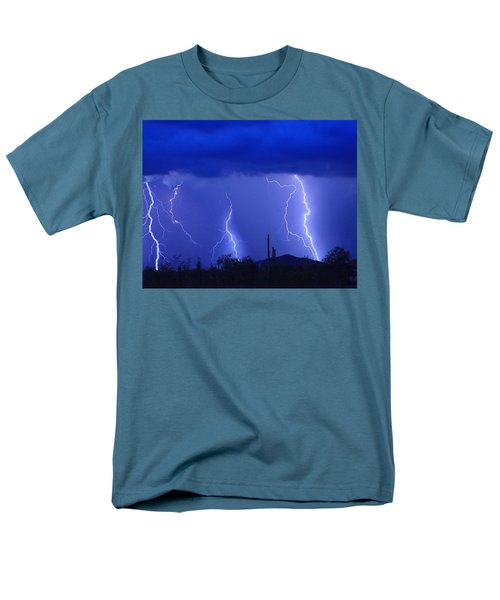 Lightning Storm in the Desert Fine Art Photography Print T-Shirt by James BO  Insogna