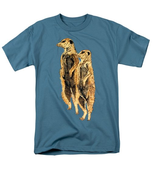 Meerkats Men's T-Shirt  (Regular Fit) by Teresa  Peterson