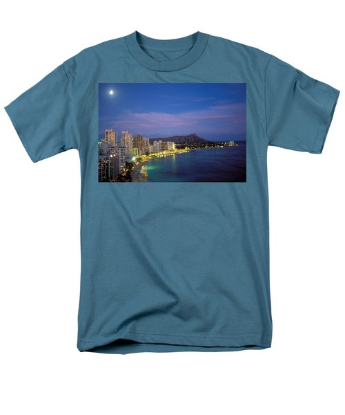 Moon Over Waikiki T-Shirt by William Waterfall - Printscapes