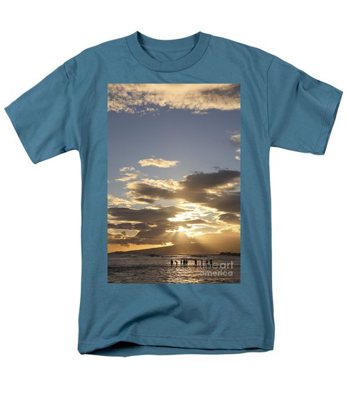 People Silhouette Sunset T-Shirt by Brandon Tabiolo - Printscapes