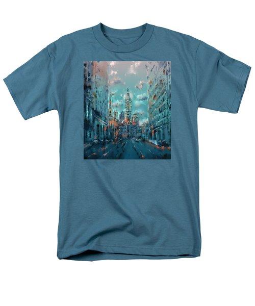 Philadelphia Street Men's T-Shirt  (Regular Fit) by Bekim Art