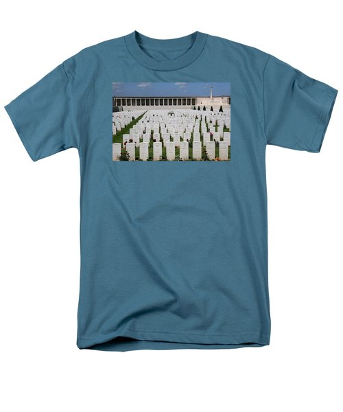 Men's T-Shirt  (Regular Fit) featuring the photograph Pozieres British Cemetery by Travel Pics