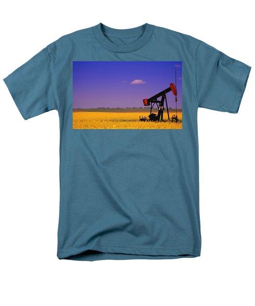 Pumpjack In A Canola Field T-Shirt by Carson Ganci