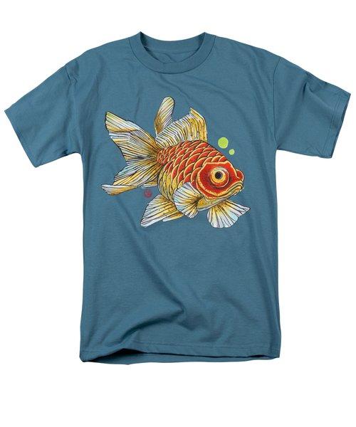 Red Telescope Goldfish Men's T-Shirt  (Regular Fit) by Shih Chang Yang