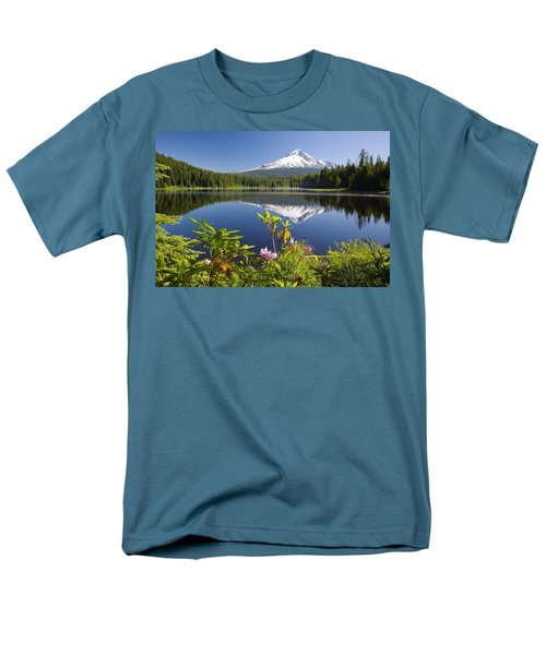 Reflection Of Mount Hood In Trillium T-Shirt by Craig Tuttle