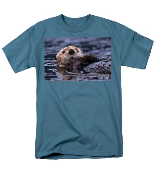 Sea Otter Men's T-Shirt  (Regular Fit) by Yva Momatiuk and John Eastcott and Photo Researchers