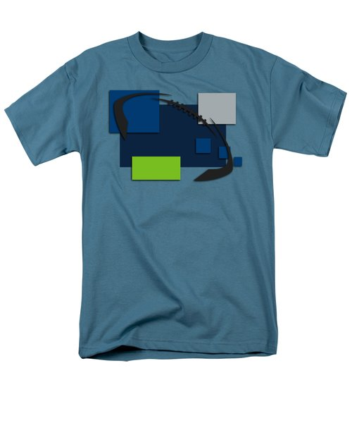 Seattle Seahawks Abstract Shirt Men's T-Shirt  (Regular Fit) by Joe Hamilton