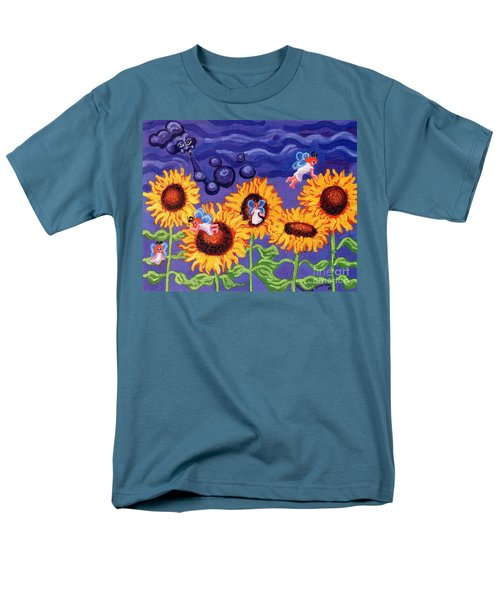 Sunflowers and Faeries T-Shirt by Genevieve Esson