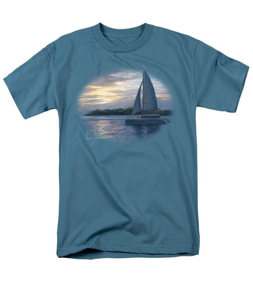 Sunset In Key West Men's T-Shirt  (Regular Fit) by Lucie Bilodeau