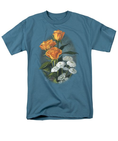 Three Roses Men's T-Shirt  (Regular Fit) by Lucie Bilodeau