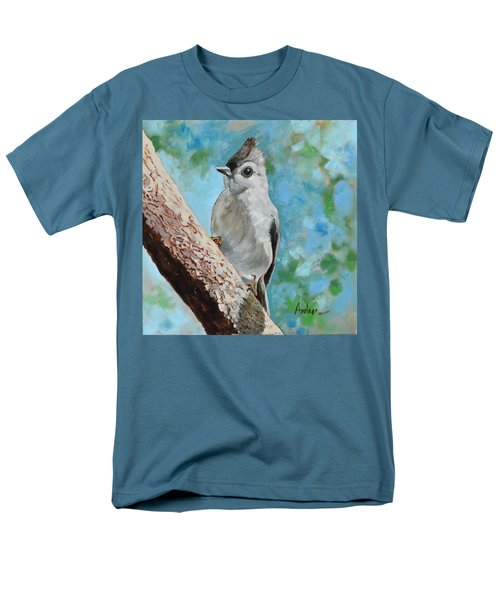 Tufted Titmouse #1 Men's T-Shirt  (Regular Fit) by Amber Foote