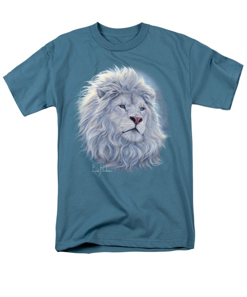 White Lion Men's T-Shirt  (Regular Fit) by Lucie Bilodeau