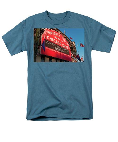 Wrigley Field Marquee Angle Men's T-Shirt  (Regular Fit) by Steve Gadomski