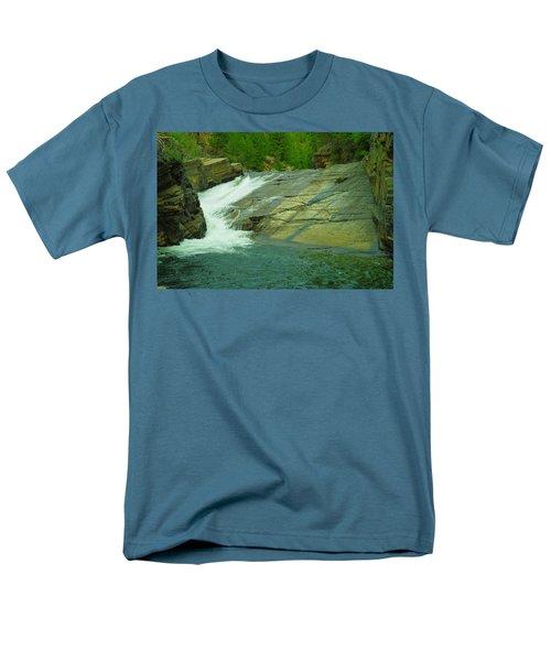 Yak Falls   Men's T-Shirt  (Regular Fit) by Jeff Swan