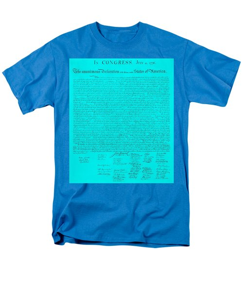 THE DECLARATION OF INDEPENDENCE in TURQUOISE T-Shirt by ROB HANS