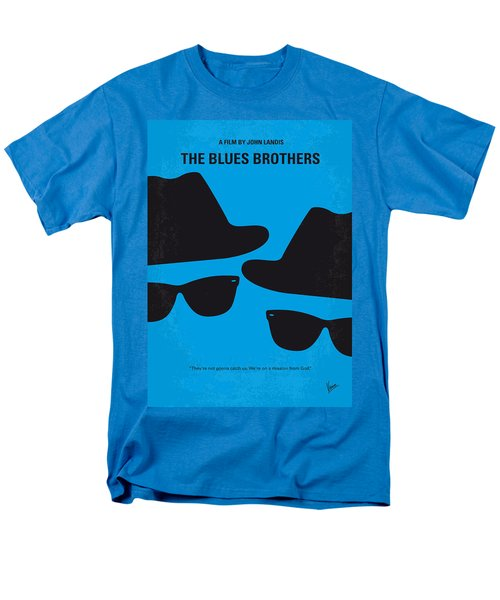 No012 My Blues Brother Minimal Movie Poster Men's T-Shirt  (Regular Fit) by Chungkong Art