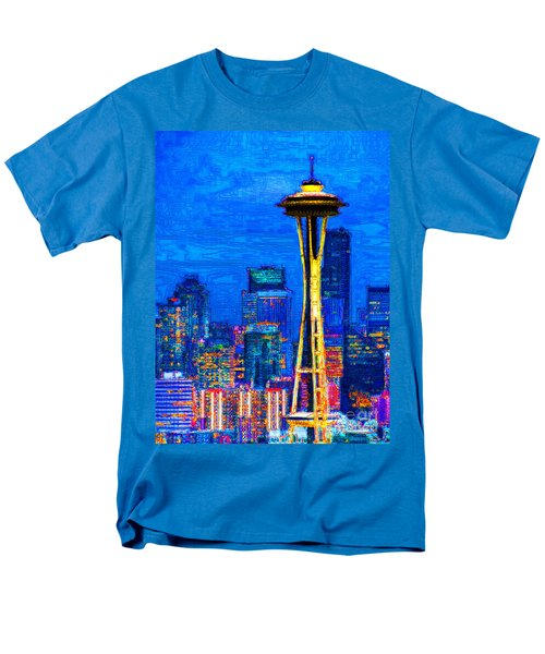 Seattle Space Needle 20130115v1 T-Shirt by Wingsdomain Art and Photography