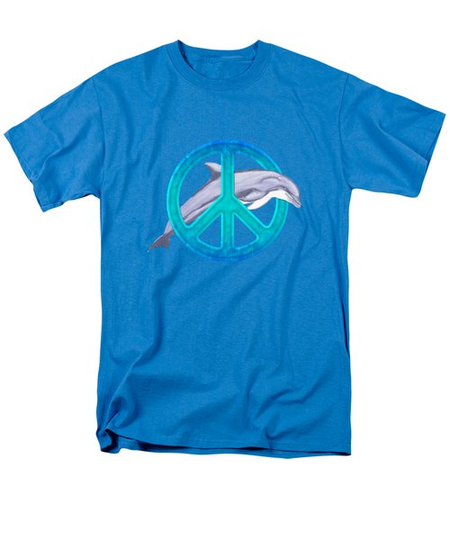 Dolphin Peace Men's T-Shirt  (Regular Fit) by Chris MacDonald
