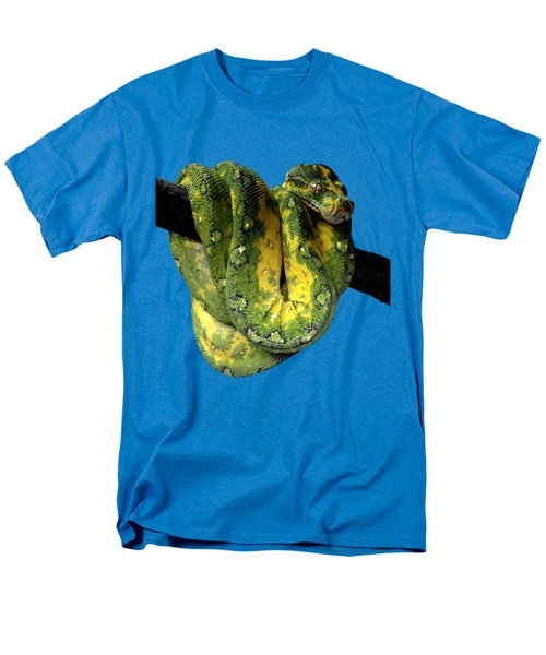 Green Tree Python 2 Men's T-Shirt  (Regular Fit) by Alondra Hanley