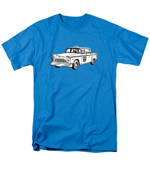 Checkered Taxi Cab Illustrastion Men's T-Shirt  (Regular Fit) by Keith Webber Jr