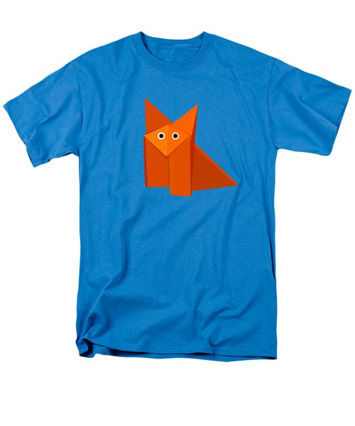 Cute Origami Fox Men's T-Shirt  (Regular Fit) by Boriana Giormova