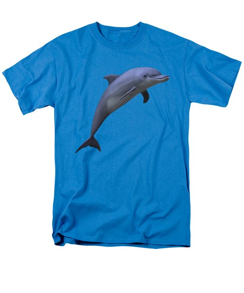 Dolphin In Ocean Blue Men's T-Shirt  (Regular Fit) by Movie Poster Prints