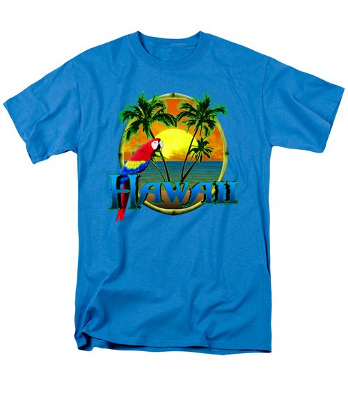 Hawaii Parrot Men's T-Shirt  (Regular Fit) by Chris MacDonald