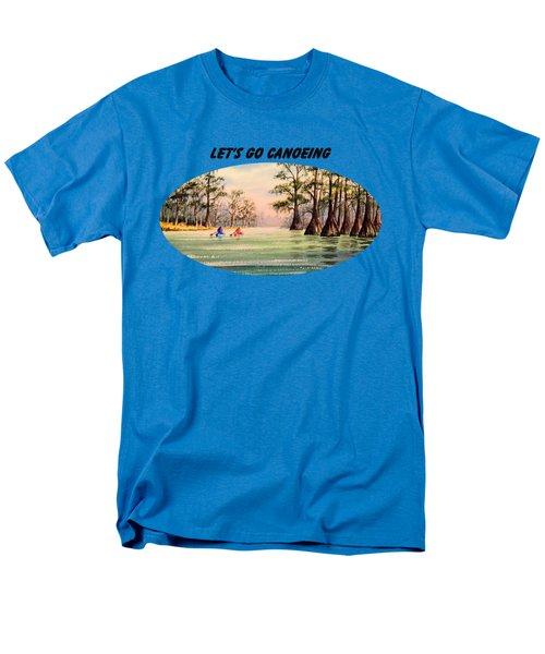 Let's Go Canoeing Men's T-Shirt  (Regular Fit) by Bill Holkham
