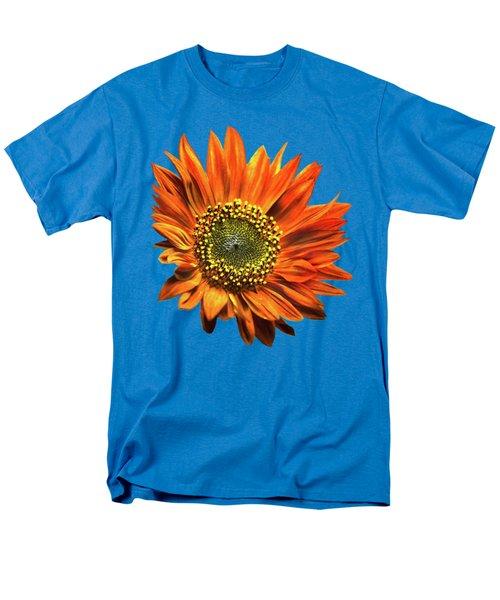 Orange Sunflower Men's T-Shirt  (Regular Fit) by Christina Rollo