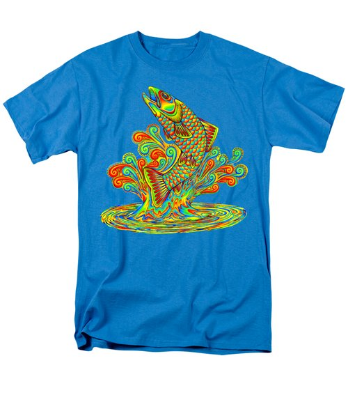 Rainbow Trout Men's T-Shirt  (Regular Fit) by Rebecca Wang