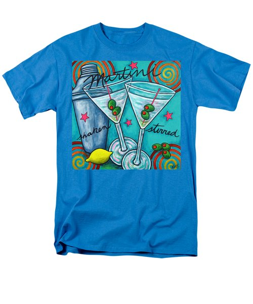 Retro Martini Men's T-Shirt  (Regular Fit) by Lisa  Lorenz