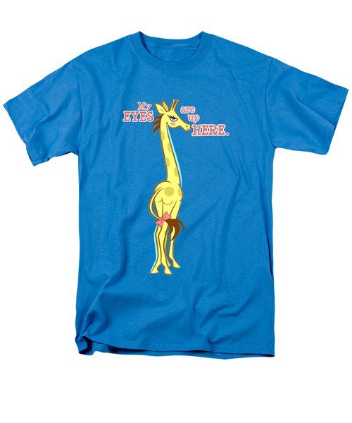 Sassy Giraffe Men's T-Shirt  (Regular Fit) by J L Meadows