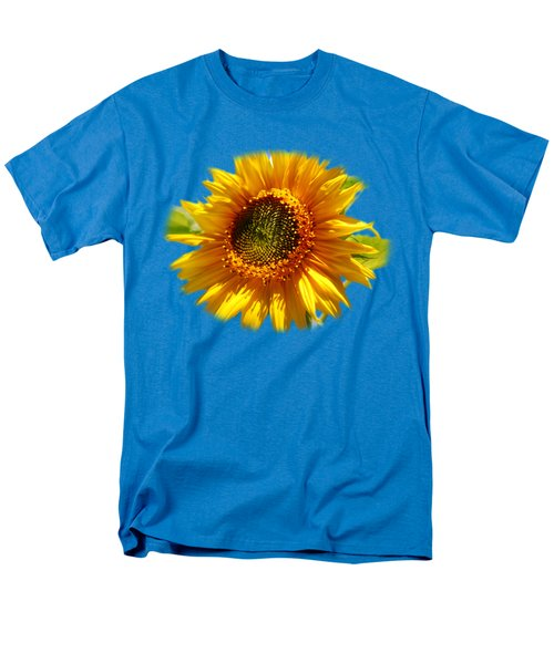 Sunny Sunflower Square Men's T-Shirt  (Regular Fit) by Christina Rollo