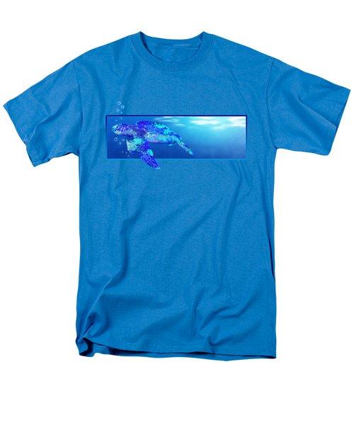 Underwater Sea Turtle Men's T-Shirt  (Regular Fit) by Chris MacDonald