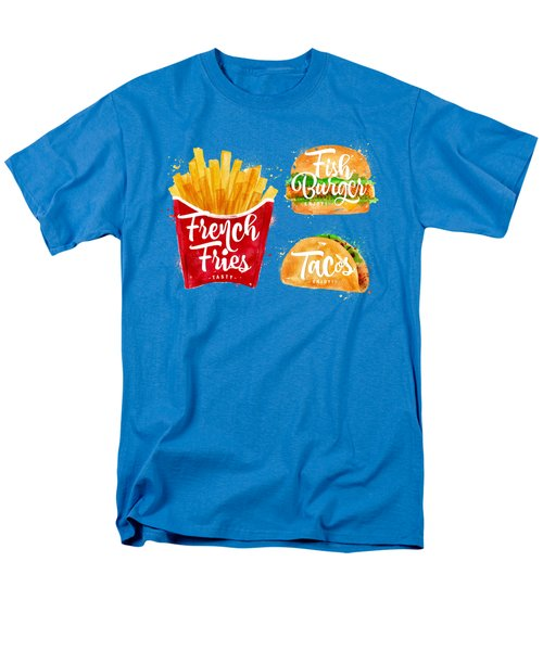 White French Fries Men's T-Shirt  (Regular Fit) by Aloke Design