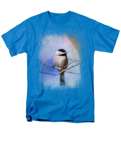 Winter Morning Chickadee Men's T-Shirt  (Regular Fit) by Jai Johnson
