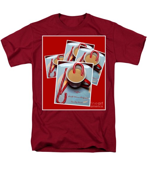 Cup of Christmas Cheer - Candy Cane - Candy - Irish Cream Liquor T-Shirt by Barbara Griffin