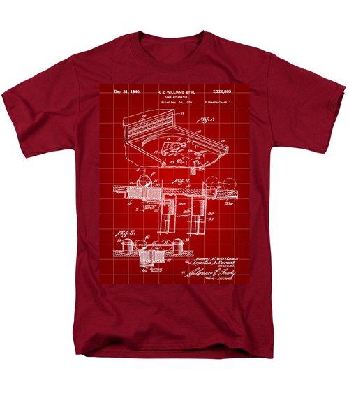 Pinball Machine Patent 1939 - Red Men's T-Shirt  (Regular Fit) by Stephen Younts
