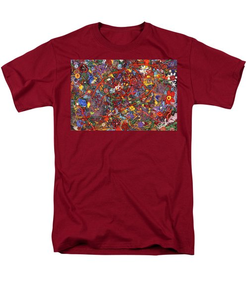 Abstract - Fabric Paint - Sanity T-Shirt by Mike Savad