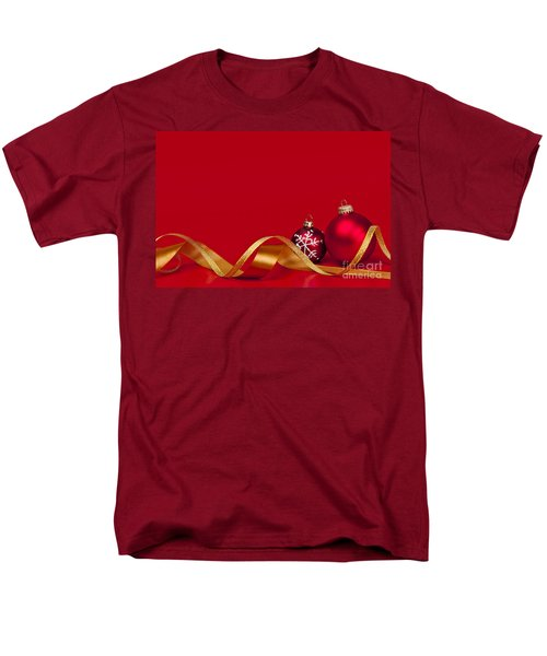 Gold and red Christmas decorations T-Shirt by Elena Elisseeva