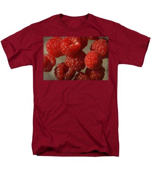 Red Raspberries Men's T-Shirt  (Regular Fit) by Cindi Ressler