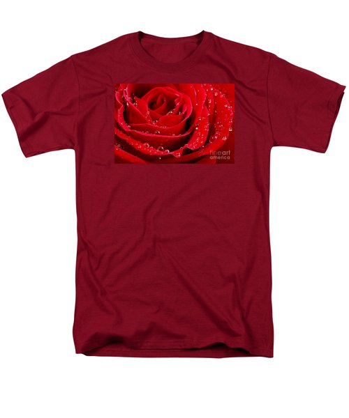 Red rose T-Shirt by Elena Elisseeva
