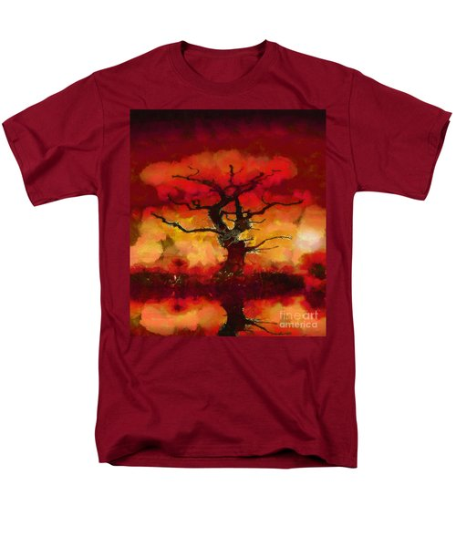 Red tree of life T-Shirt by Pixel Chimp