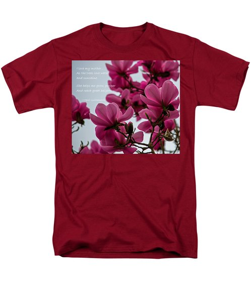 She Helps Me Grow - Mother's Day T-Shirt by Jordan Blackstone