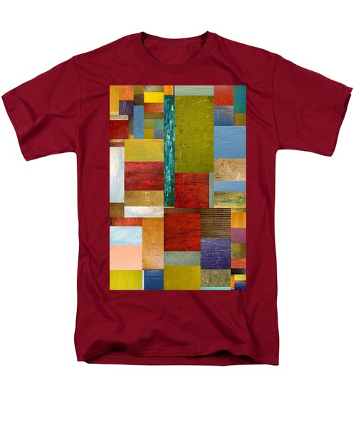 Strips and Pieces lll T-Shirt by Michelle Calkins